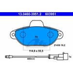 ATE 603951 pločice za kočnice sa kablom Fiat/Zastava 10