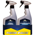 Michelin Twin Pack Fabric Cleaner + Foaming Glass Cleaner 650+650ml