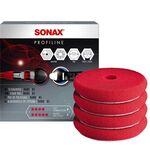 Sonax Sunđer za poliranje crveni tvrdi 85mm 4 kom