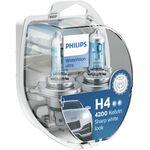 Philips 12V H4 60/55W + W5W White Vision Ultra 2+2kom