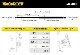 Monroe amortizer gepeka ML5088 Opel Agila A/Suzuki Wagon R+