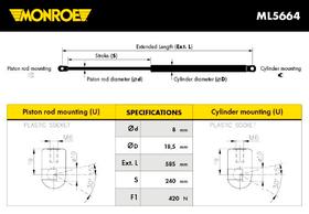 Monroe amortizer gepeka ML5664 Ford Focus II Turnier