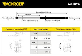 Monroe amortizer gepeka ML5824 Citroen C4 Coupe