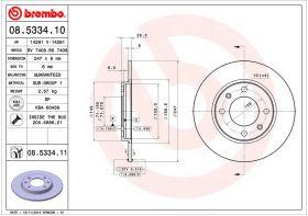 Brembo 08.5334.10 kočioni disk Peugeot 106/206/306