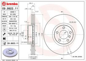 Brembo 09.9922.11 kočioni disk BMW X5 (E70/F15/F85)/X6 (E71/E72/F16/F86)