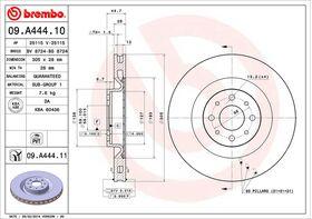 Brembo 09.A444.11 kočioni diskovi par Lancia Delta III
