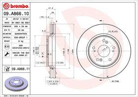 Brembo 09.A866.10 kočioni diskovi par Honda CR-V III/IV