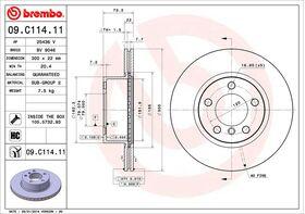 Brembo 09.C114.11 kočioni diskovi par BMW 1 (F20/F21)/3 (F30/F80/F31/F34)/4 (F33/F83/F32/F82/F36)
