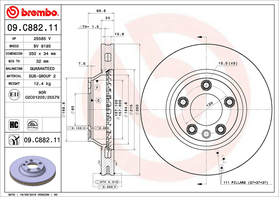 Brembo 09.C882.11 kočioni disk Audi Q7/VW Touareg/Porsche Cayenne