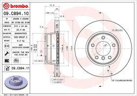 Brembo 09.C894.11 kočioni diskovi par BMW 5 (E60/E61)