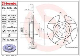 Brembo Max 09.4939.76 kočioni diskovi par Alfa Romeo 147/156/GT/GTV/Spider/Fiat Doblo/Qubo/Opel Combo