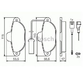 Bosch pločice za kočnice sa kablom Fiat/Zastava 10