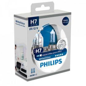 Philips 12V H7 55W + W5W White Vision Xenon Effect 2+2kom